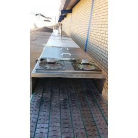دستگاه تونل پاستوریزاتور اورهال طول ۱۴ متر و عرض ۸۰ کد K12
